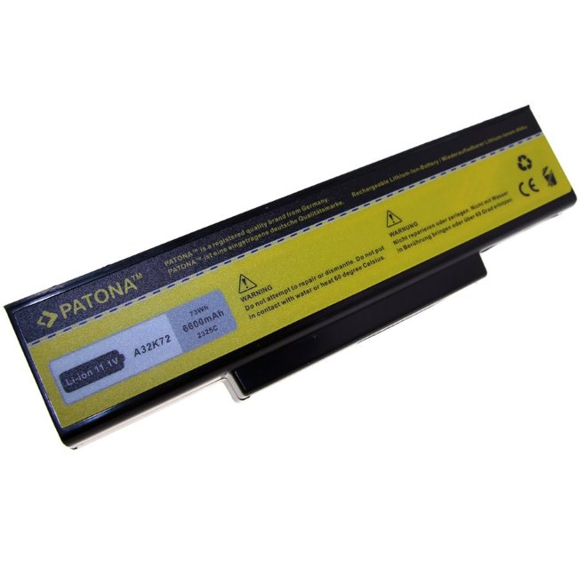 Prémiová batéria PATONA pre Asus K72, N71, N73 a X72 - 6600mAh, Li-Ion 11,1V
