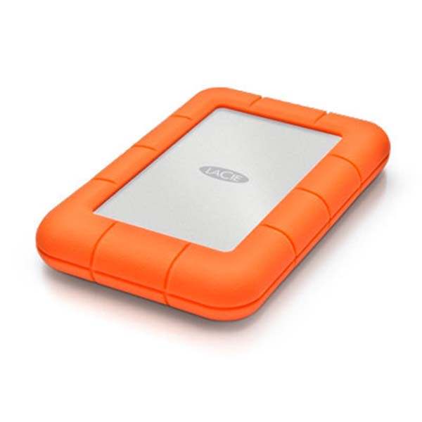 "Prenosný HDD LaCie Rugged Mini 2.5"", 1000 GB, USB 3.0, Silver/Orange"