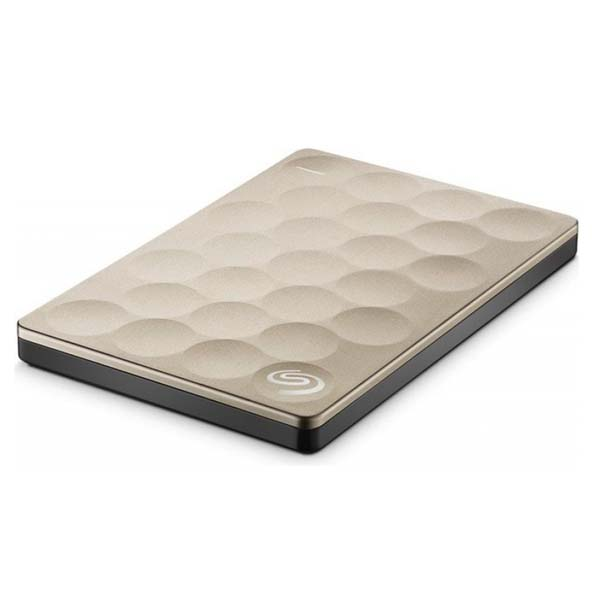 "Prenosný HDD Seagate Backup Plus Ultra Slim 2.5"", 1000 GB, USB 3.0, Gold"