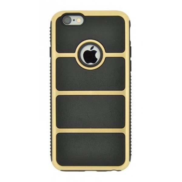 Puzdro 4-OK Cover Chrome Iron Pre iPhone 6, Čierno-zlaté CRIR6O