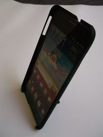 Puzdro 4-OK Cover stand rubber touch, Black, Samsung Galaxy Note