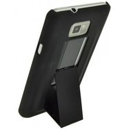 Puzdro 4-OK Cover stand rubber touch pre Samsung Galaxy S2 - i9100 a S2 Plus - i9105, Black