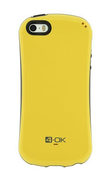 Puzdro 4-OK Curve iPhone 5/5S, Žlté