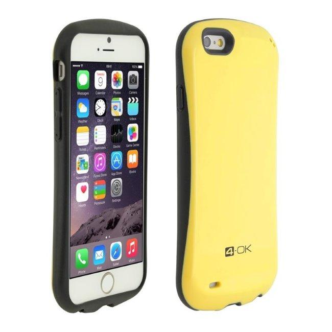 Puzdro 4-OK Curve pre Apple iPhone 6 a 6S, Žlté