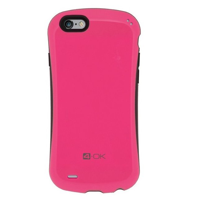 Puzdro 4-OK Curve pre Apple iPhone 6 a iPhone 6S, Pink