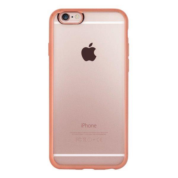 Puzdro 4-OK ELEKTRA TPU pre Apple Iphone 6/6S, Transparentné-Ružové