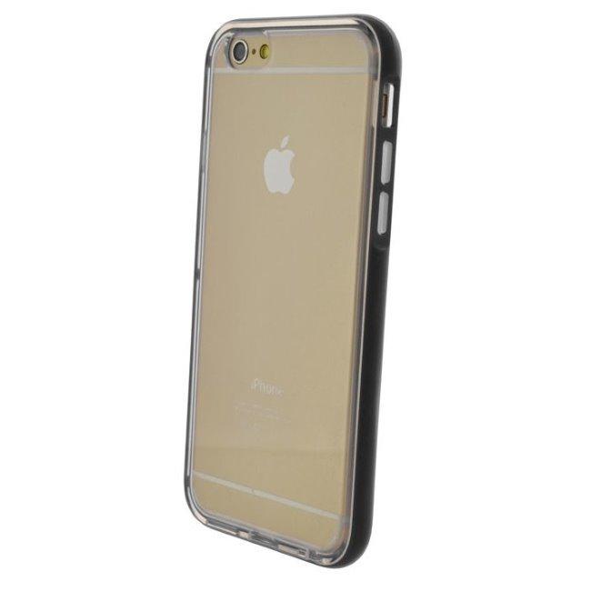 Puzdro 4-OK Flash Bumper Para pre Apple iPhone 6 a 6S, Black