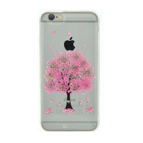 Puzdro 4-OK kvetinové pre Apple Iphone 7, Motív-Pink Tree