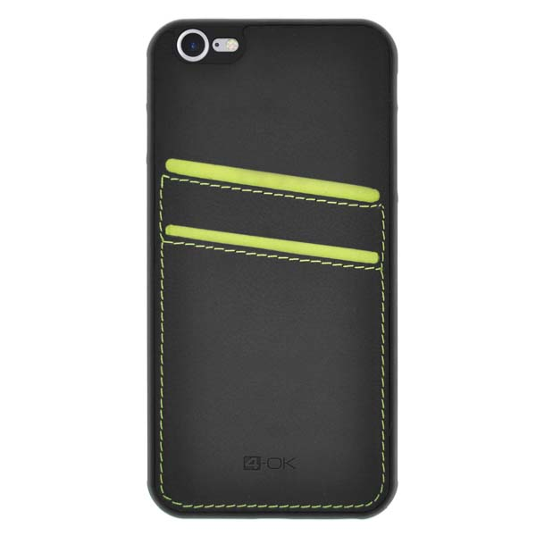 Puzdro 4-OK Pocket Cover Pre iPhone 7, Zelené