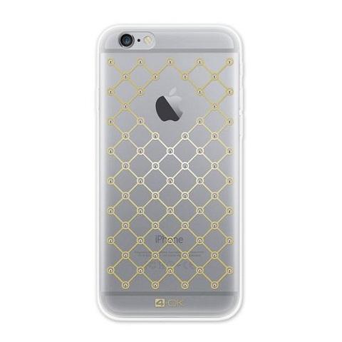 Puzdro 4-OK sieťované diamanty pre Apple Iphone 6 / 6S, Transparentné