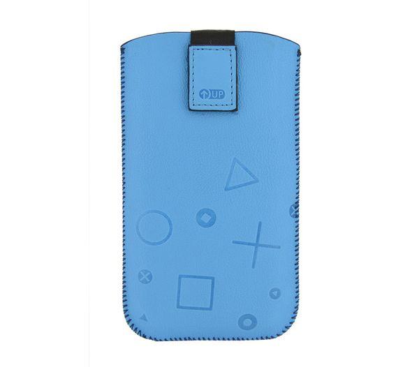 Puzdro 4-OK Up Colors Pre Samsung Galaxy S4/S3, HTC One, Modrá