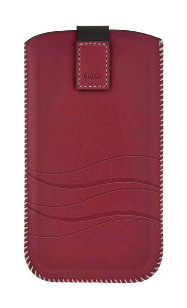 Puzdro 4-OK Up Premium Pre iPhone 5/5S/5C, Tmavá Červená
