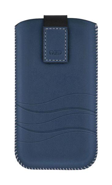 Puzdro 4-OK Up Premium Pre Samsung Galaxy S4/S3, HTC One, Tmavá Modrá