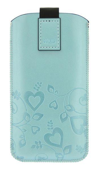 Puzdro 4-OK Up Woman Pre Samsung Galaxy S4/S3, HTC One, Svetlá Modrá