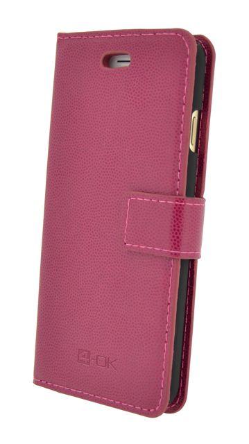 Puzdro 4-OK Wallet Stand With Pocket Card Pre Samsung S6, Ružová