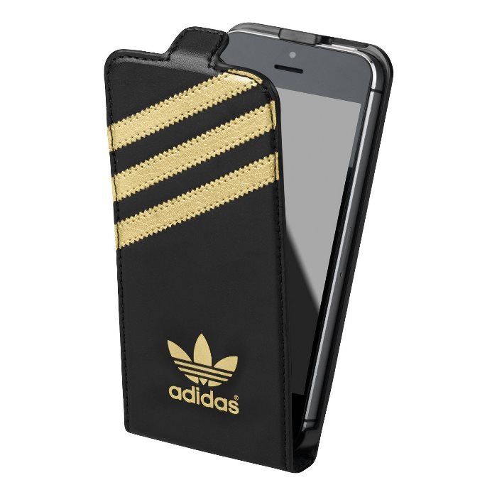 Puzdro Adidas Originals, Booklet pre Apple iPhone 5 a Apple iPhone 5S, Black/Gold