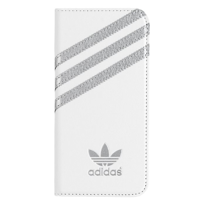 Puzdro Adidas Originals - Booklet pre Apple iPhone 5 a Apple iPhone 5S, White/Silver