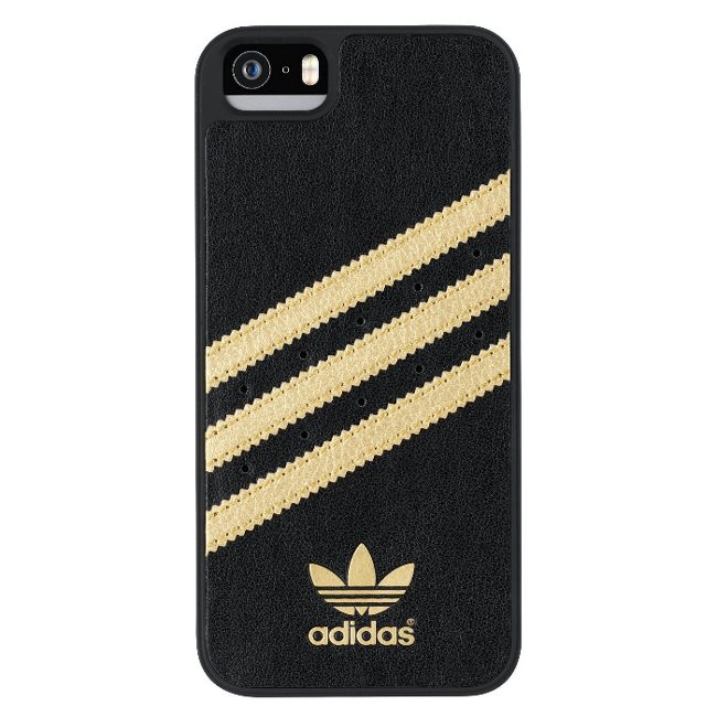 Puzdro Adidas Originals - Moulded pre Apple iPhone 5 a Apple iPhone 5S, Black/Gold