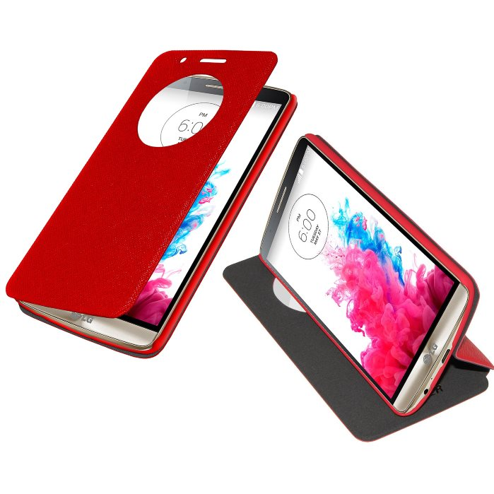 Puzdro Amzer Flip Case pre LG G3 - D855, Red