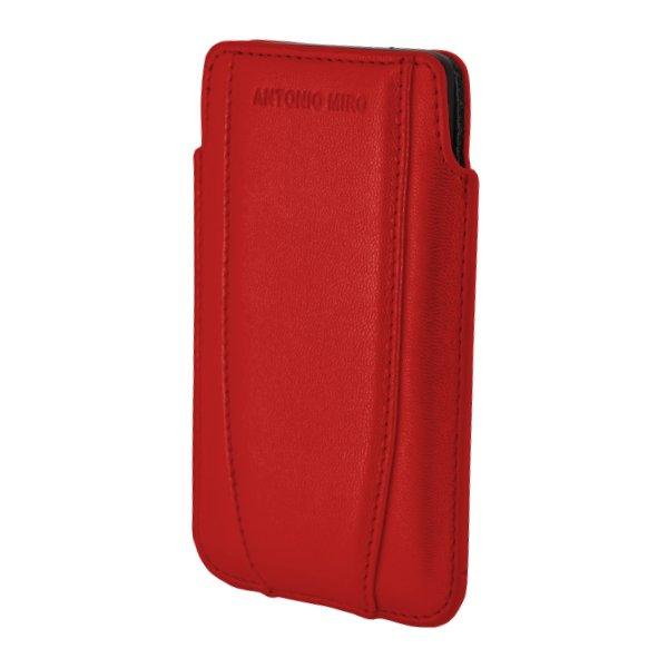Puzdro Antonio Miro Up Case pre mobily do rozmerov 122x68x12mm, Red