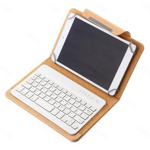 Puzdro BestCase Elegance s Bluetooth klávesnicou pre Váš tablet - veľkosť L, Gold
