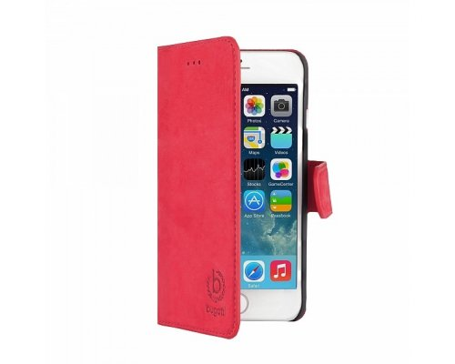 Puzdro Bugatti BookCover Madrid pre Apple iPhone 6, red