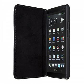 Puzdro Bugatti BookCover Oslo Leather pre HTC One - M8, black