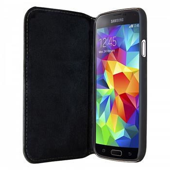 4f2dec40d Puzdro Bugatti BookCover Oslo Leather pre Samsung Galaxy S5 Mini, black-