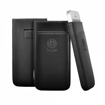 Puzdro Bugatti Pure Premium pre Samsung Galaxy S4 - i9505 a i9500, black (T-Edition)