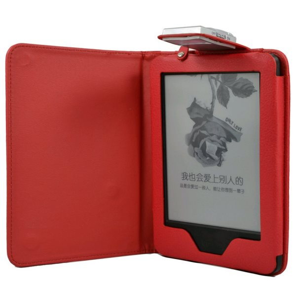 Puzdro C-Tech Protect AKC-09 s LED lampou pre Amazon Kindle 6 Touch, Red