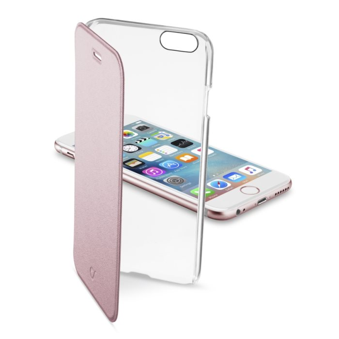 Puzdro CellularLine Clear Book pre Apple iPhone 6 a 6S, Pink