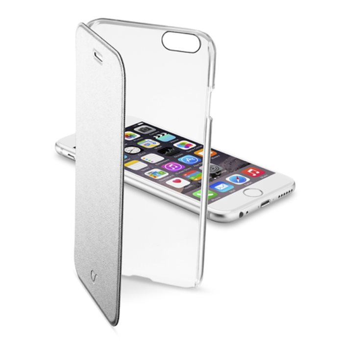 Puzdro CellularLine Clear Book pre Apple iPhone 6 a 6S, Silver