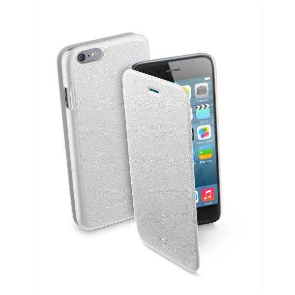 Puzdro CellularLine Flap Essential pre Apple iPhone 6, White