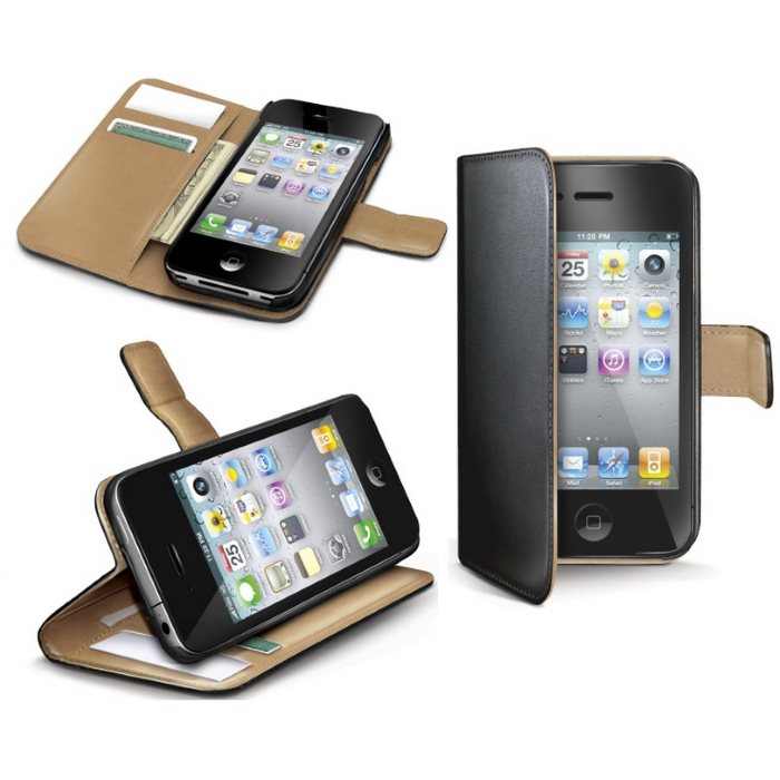 Puzdro Celly Wally pre Apple iPhone 4 a Apple iPhone 4S, Black