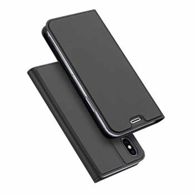 Púzdro Dux Ducis pre Samsung Galaxy A20e - A202F, tmavo sivé