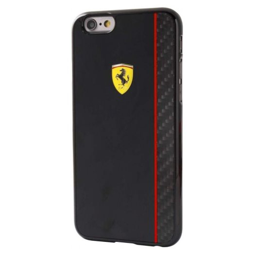 Puzdro Ferrari Scuderia pre Apple iPhone 6, Apple iPhone 6S, Black/Carbon