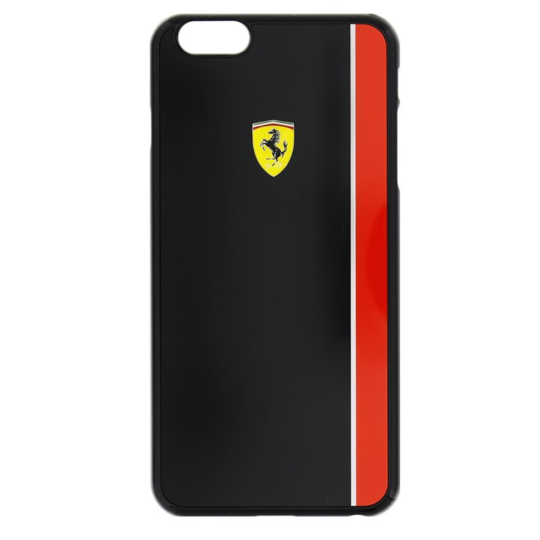 Puzdro Ferrari Scuderia pre Apple iPhone 6 Plus a Apple iPhone 6S Plus, Black/Red