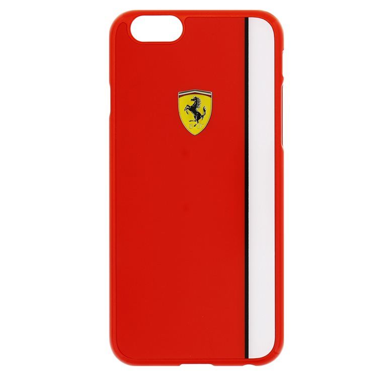 Puzdro Ferrari Scuderia pre Apple iPhone 6 Plus a Apple iPhone 6S Plus, Red/White