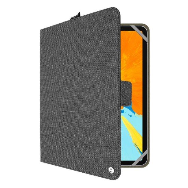 Puzdro Fixed Novel pre Váš tablet (10,1''), tmavo sivé