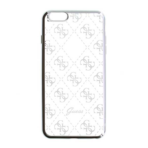 Puzdro Guess 4G pre Apple iPhone 5, Apple iPhone 5S, Apple iPhone 5 SE, Silver