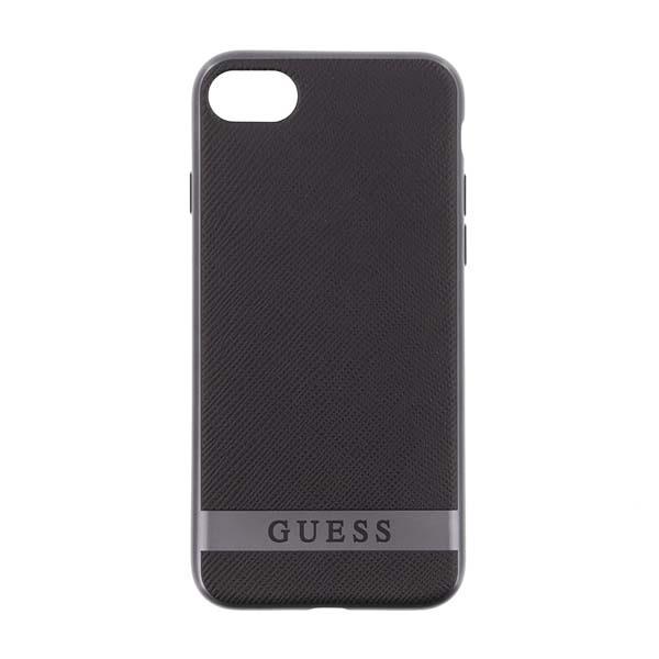 Puzdro Guess Classic Soft TPU pre Apple iPhone 7 a iPhone 8, Black/Silver 3700740396087