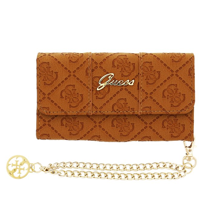 Puzdro Guess Clutch pre Apple iPhone 5, 5S a SE, Cognac
