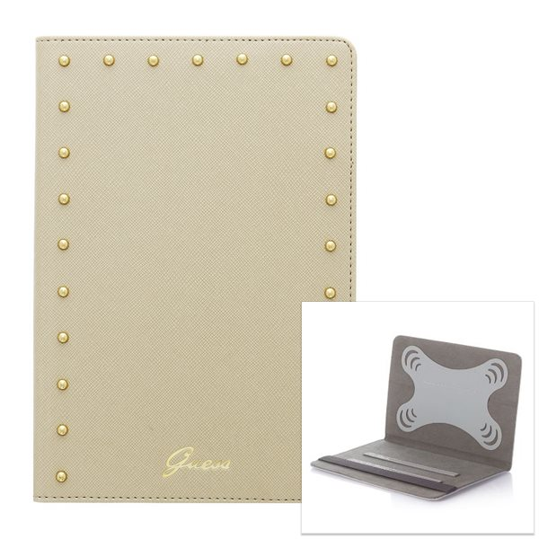Puzdro Guess Studded pre Prestigio MultiPad 4 Diamond 7.85 3G - PMP7079, Cream