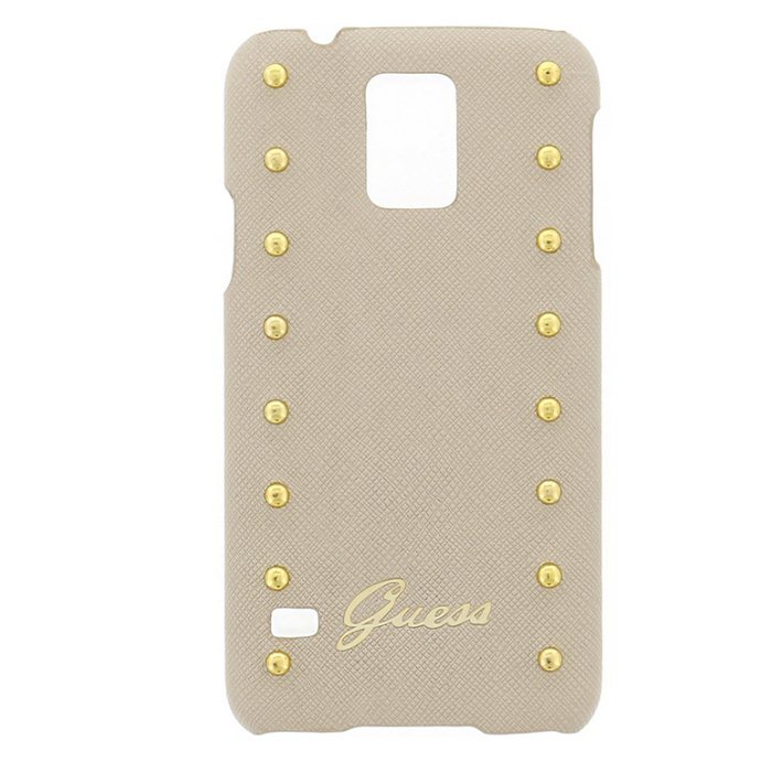 Puzdro Guess Studded pre Samsung Galaxy S5 - G900 a S5 Neo - G903, Cream