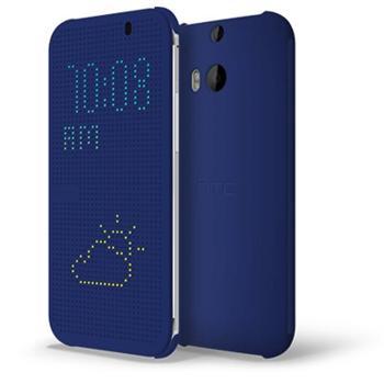 Puzdro HTC Dot View - HC M110 pre HTC One - E8, Dual SIM, Blue - OPENBOX (rozbalený tovar s plnou zárukou)
