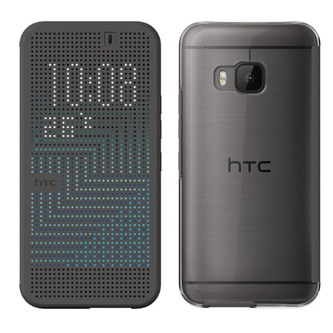 Puzdro HTC HC M232 Dot View 2 pre HTC One - M9, Black