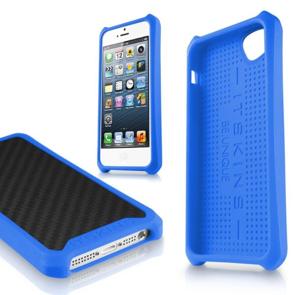 Puzdro ITSKINS Atom Matt pre Apple iPhone 5, 5S a SE, Carbon Blue