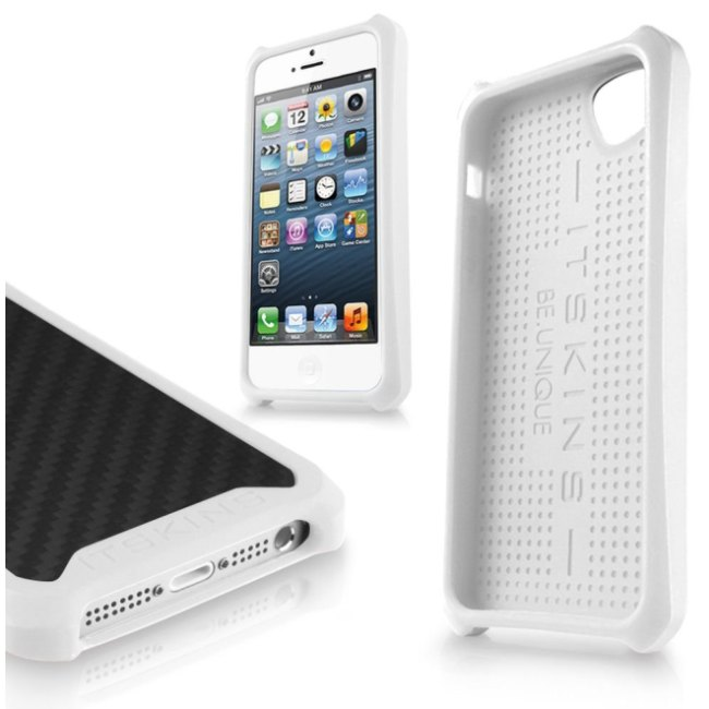 Puzdro ITSKINS Atom Matt pre Apple iPhone 5, 5S a SE, Carbon White