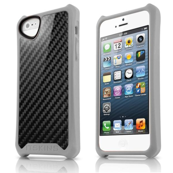 Puzdro ITSKINS Atom Sheen pre Apple iPhone 5, 5S a SE, Carbon Grey