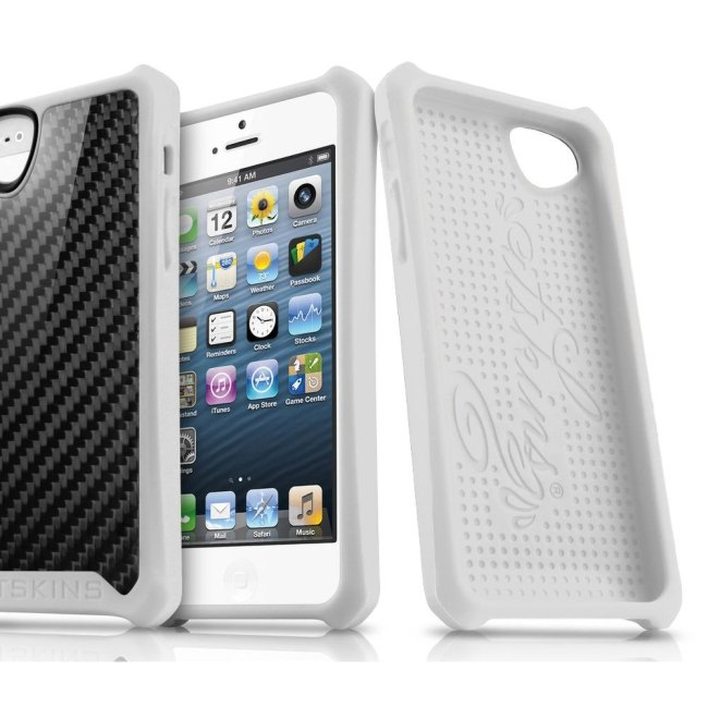Puzdro ITSKINS Atom Sheen pre Apple iPhone 5, 5S a SE, Carbon White